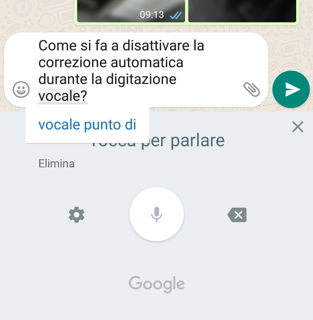 digitazione vocale